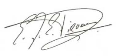 Image of signature